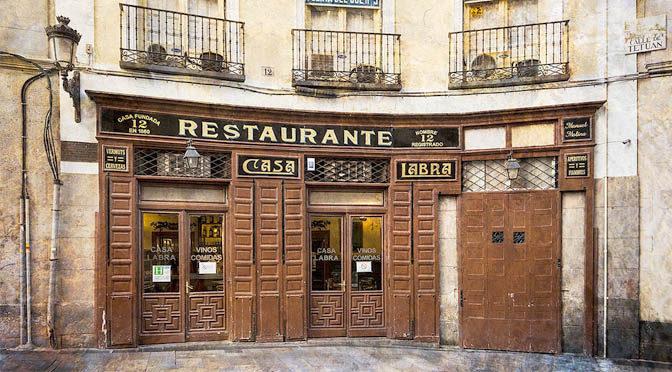 El Ayuntamiento de Madrid declara a los restaurantes centenarios espacios culturales y turísticos de interés general