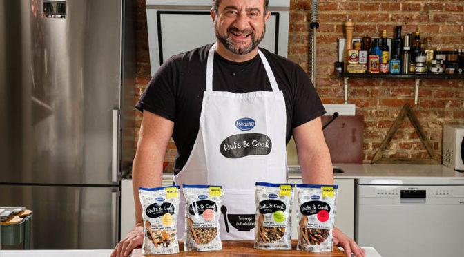 El chef Sergio Fernández, nuevo embajador de la gama «Nuts & Cook» de Aperitivos Medina